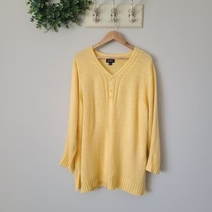 AVENUE Sweater Knit Yellow Knit Pullover 22/24
